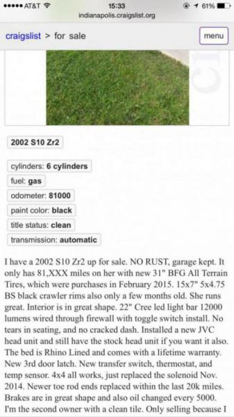 2002 S10 ZR2 81k miles  | S-10 Forum