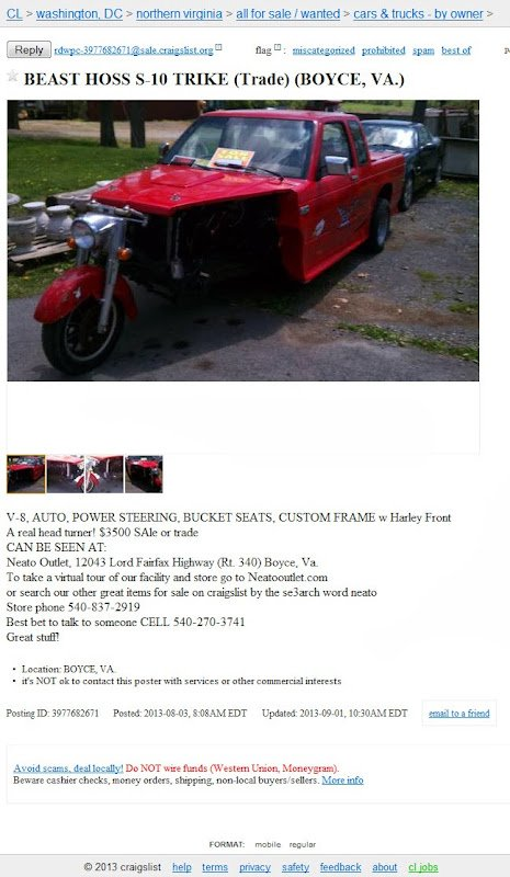 Craigslist Washington Dc Cars And Trucks >> Most Ridiculous Finds On Craigslist Volume Ii Page 86 S