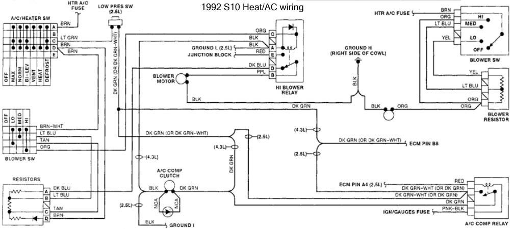 S10 Blower Motor Wiring Diagram - Collection