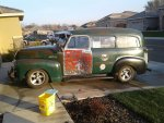 1952 GMC Suburban with 1991 S10 running gear
